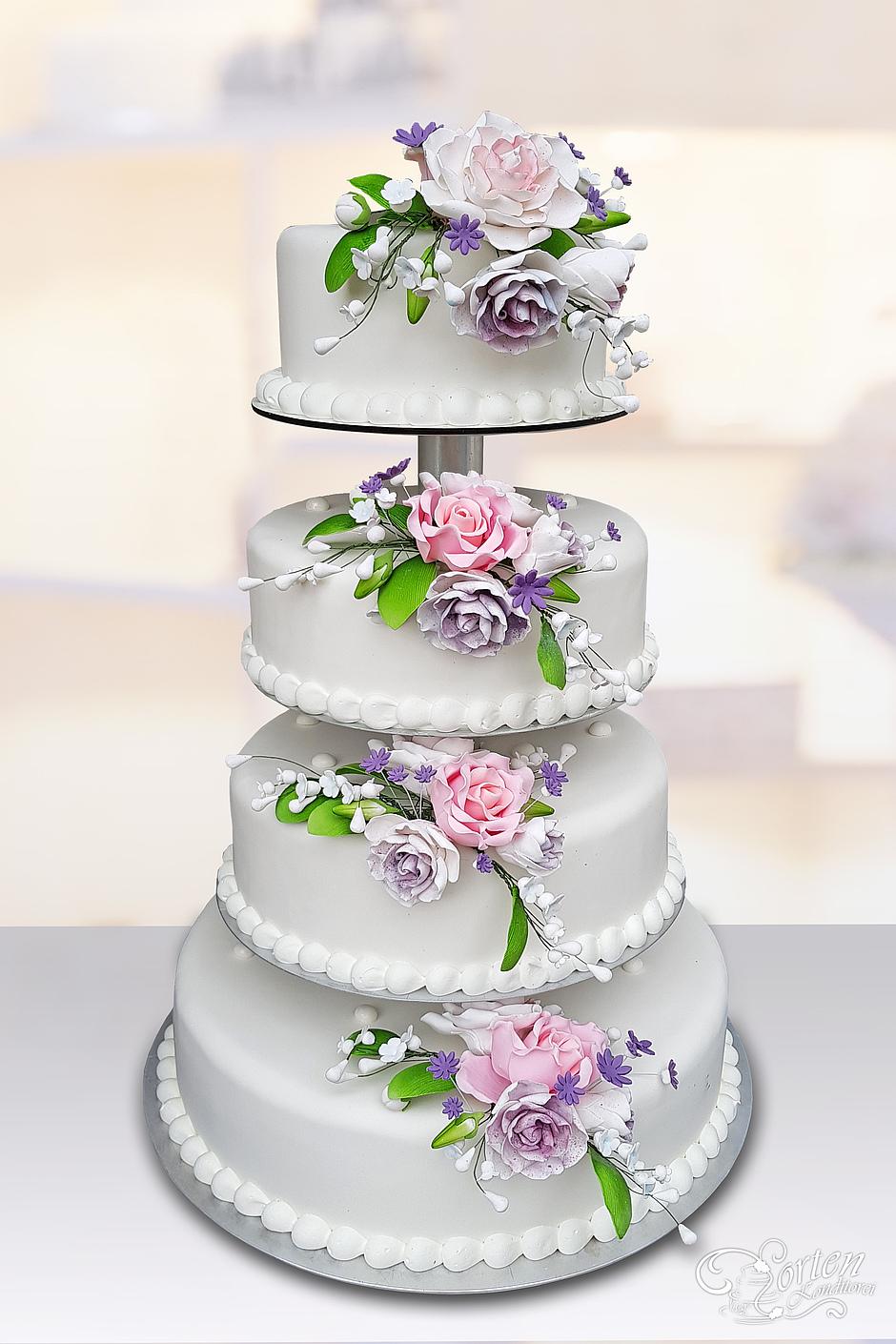 Bezaubernd Hochzeitstorte Lila Das Beste Von Klassische In Violett Und Rosa-ton